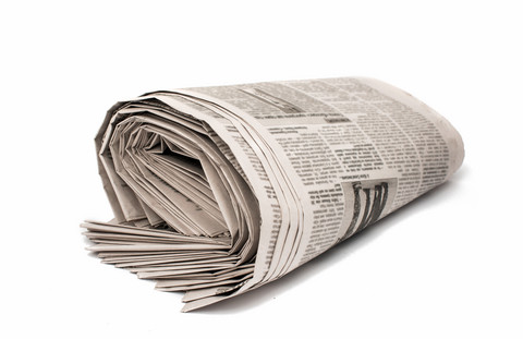 Sammenrullet avis