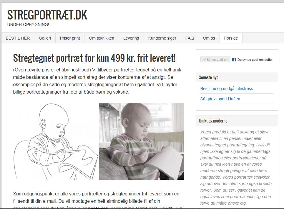 Screendump af stregportræt.dk