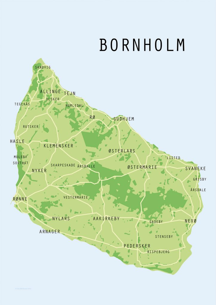 bornholmsk landkort