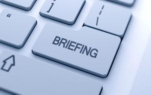 Briefing button